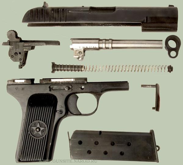 Неполная разборка пистолета ТТ